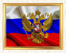Load image into Gallery viewer, Russian Flag DIY Diamond Art Kit