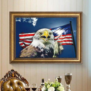 Flag & Eagle DIY Diamond Painting