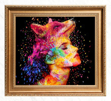 Load image into Gallery viewer, Abstract Wolf Lady Diamond Painting