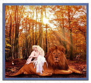 Gorgeous Lady with Forest Animals