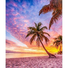 Load image into Gallery viewer, Beach Palm Trees - Paint with Diamonds