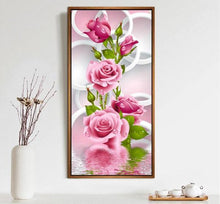 Load image into Gallery viewer, Pretty Pink Roses Painting Kit