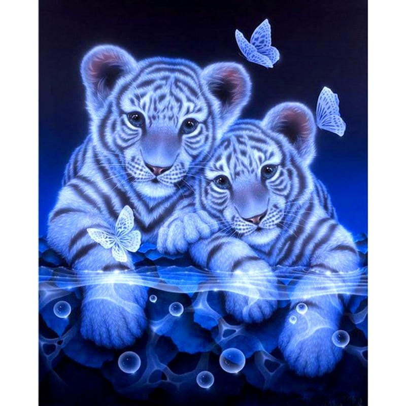 White Tigers Diamond Painting