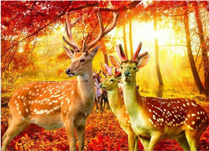 Amazing Deer Paintings - DIY Diamond Art