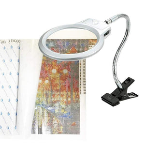 Magnifier LED Desk Lamp
