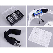 Load image into Gallery viewer, LED Light Headband Magnifier Glasses for Painting with Diamonds