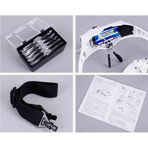 LED Light Headband Magnifier Glasses for Painting with Diamonds