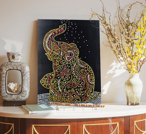 Elephant's Shower - Special Diamond Painting