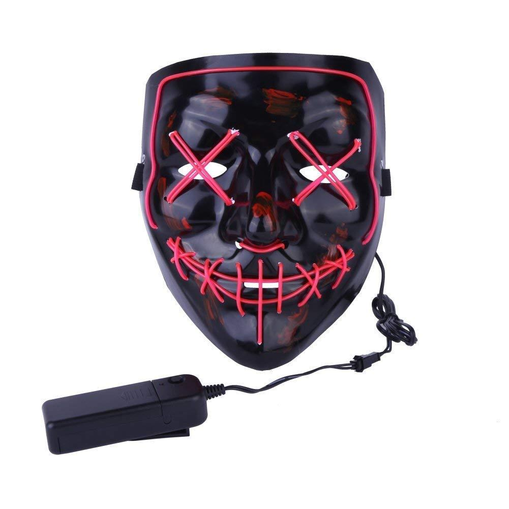 poptrend halloween mask led light up purge mask for festival cosplay