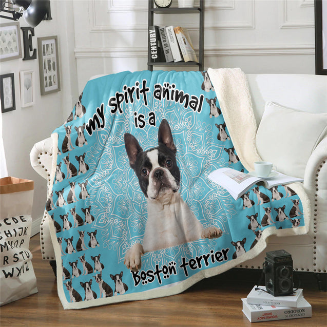 TD Boston Terrier Is My Spirit Animal Blanket