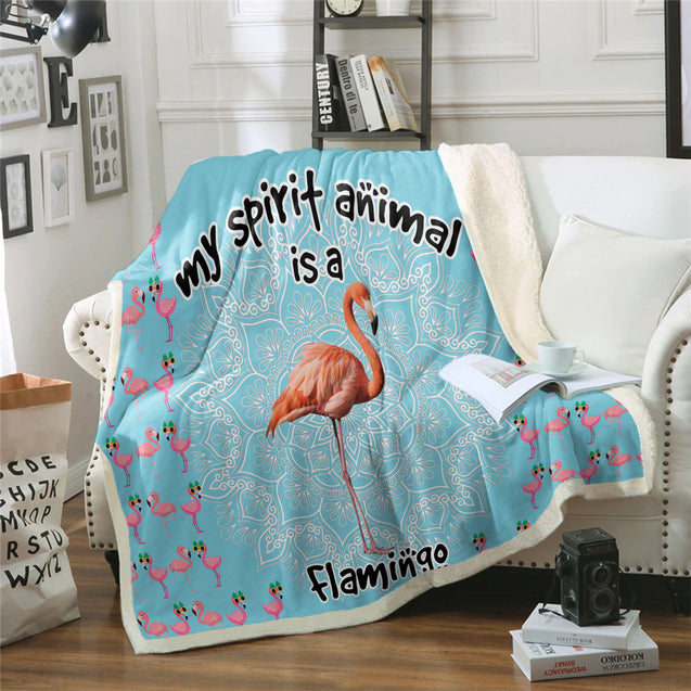 TD Flamingo Is My Spirit Animal Blanket