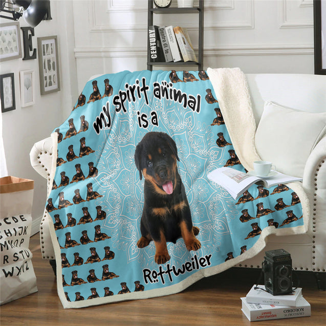 TD Rottweiler Is My Spirit Animal Blanket
