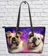 TD 1 BullDog Galaxy Leather Tote Bag
