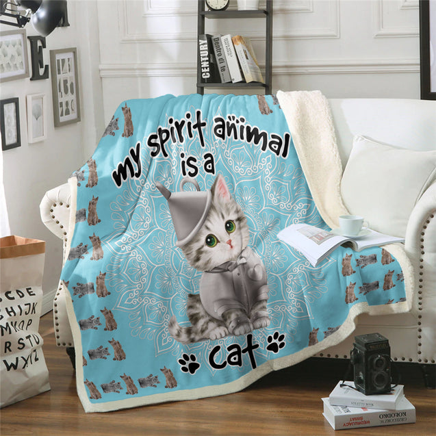 TD Cat Is My Spirit Animal Blanket