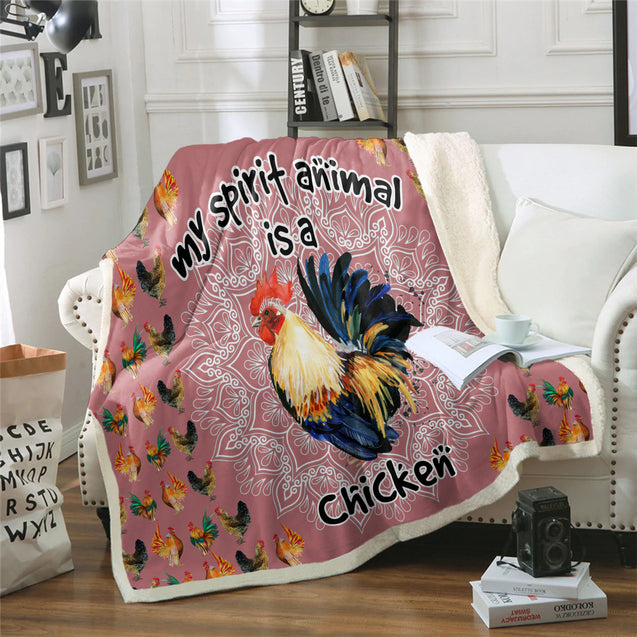 TD Chicken Is My Spirit Animal Blanket