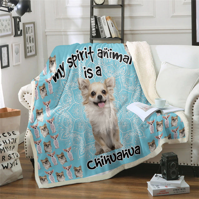TD Chihuahua Is My Spirit Animal Blanket
