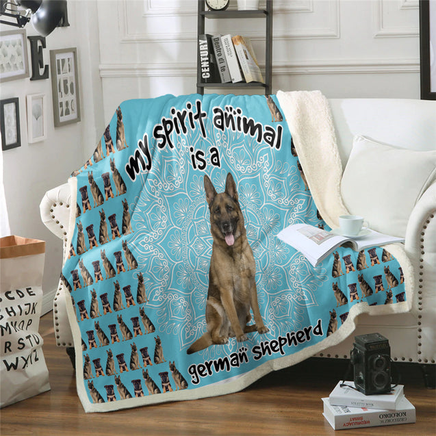 TD German Shepherd Is My Spirit Animal Blanket