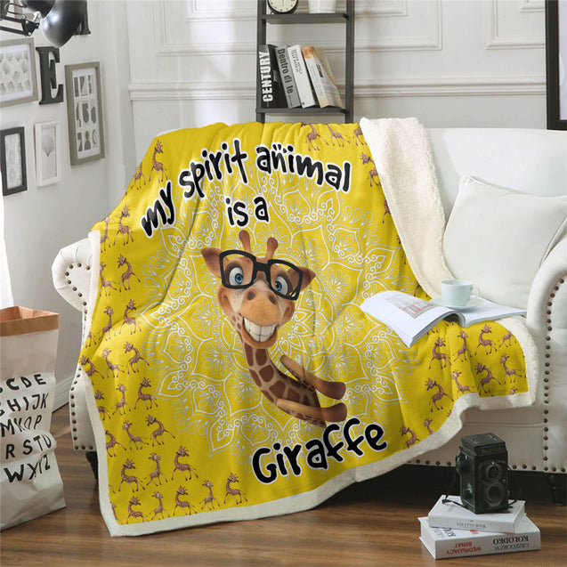 TD Giraffe Is My Spirit Animal Blanket