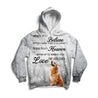Ln  1golden retriever love never dies 3d hoodie