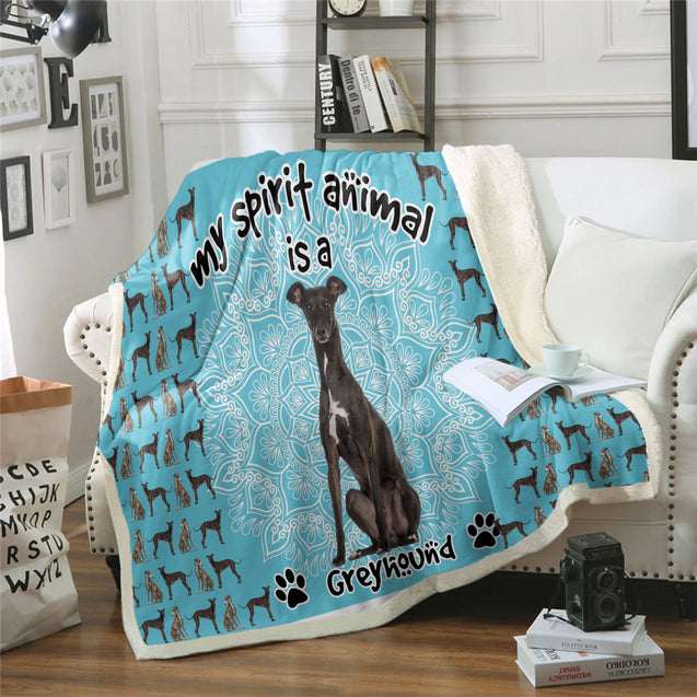 TD Greyhound Is My Spirit Animal Blanket