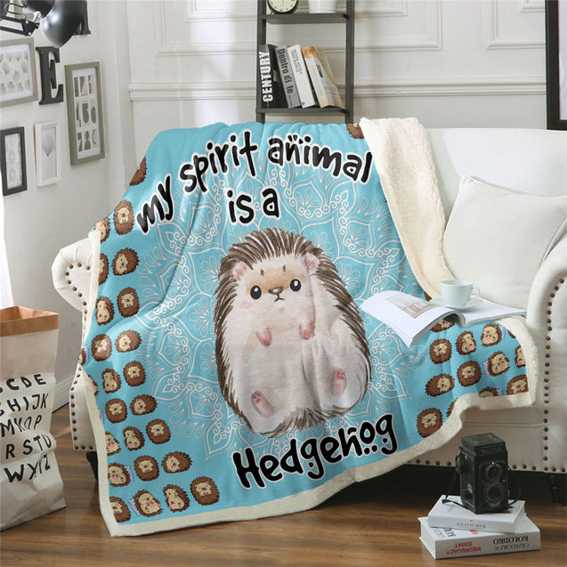TD Hedgehog Is My Spirit Animal Blanket
