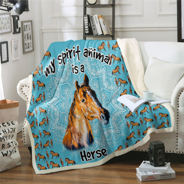 TD Horse Is My Spirit Animal Blanket