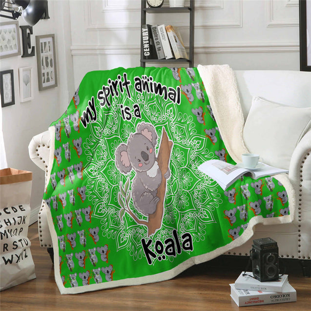TD Koala Is My Spirit Animal Blanket