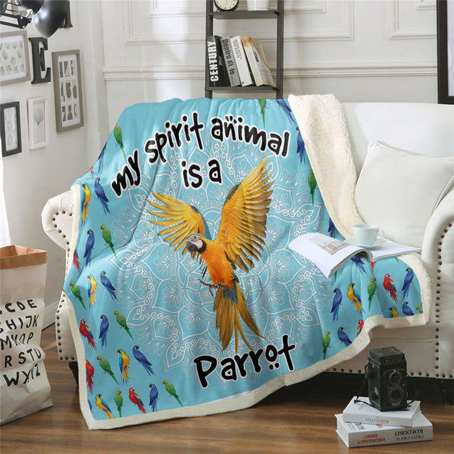 TD Parrot Is My Spirit Animal Blanket