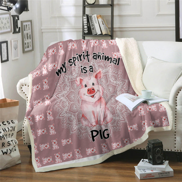 TD Pig Is My Spirit Animal Blanket