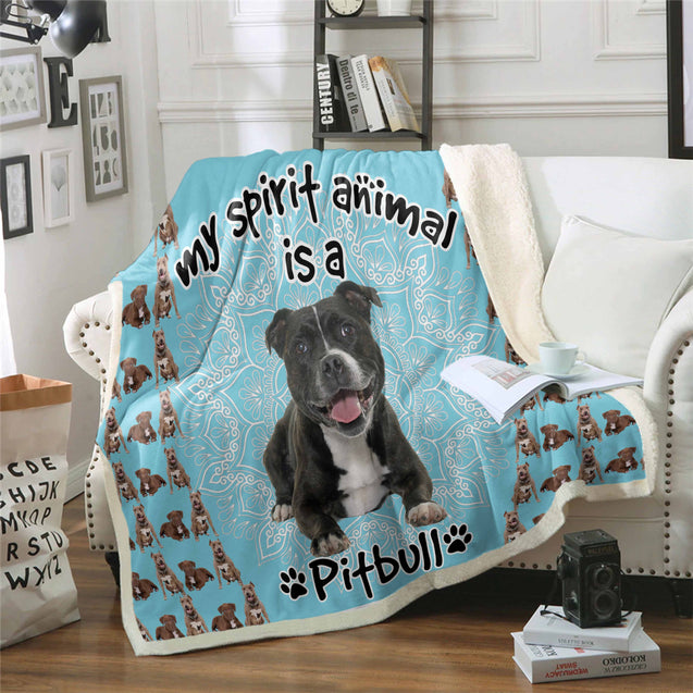 TD Pitbull Is My Spirit Animal Blanket