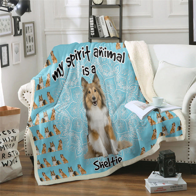TD Sheltie Is My Spirit Animal Blanket