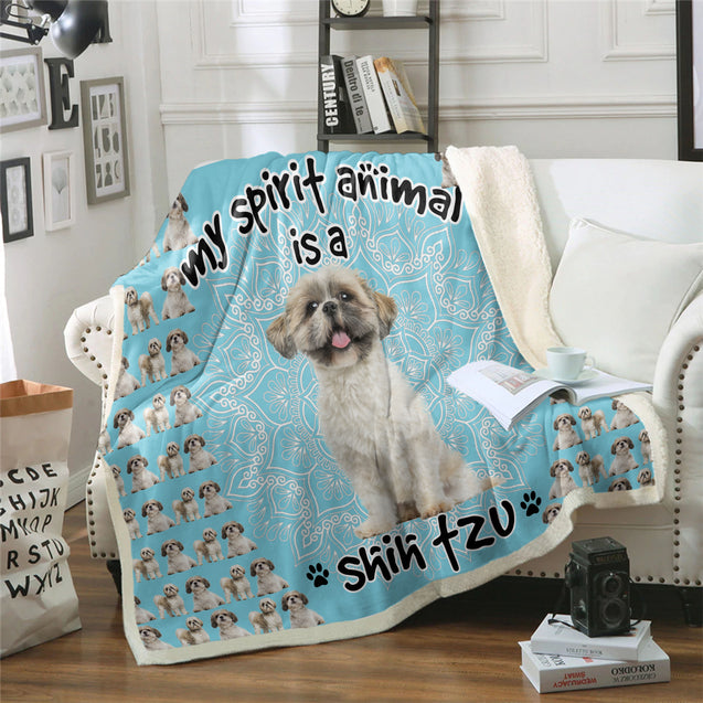 TD Shih Tzu Is My Spirit Animal Blanket