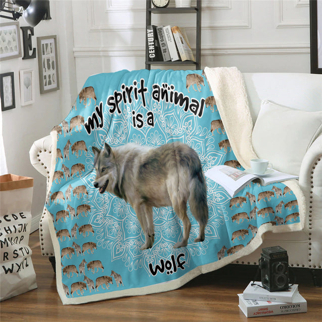 TD Wolf Is My Spirit Animal Blanket