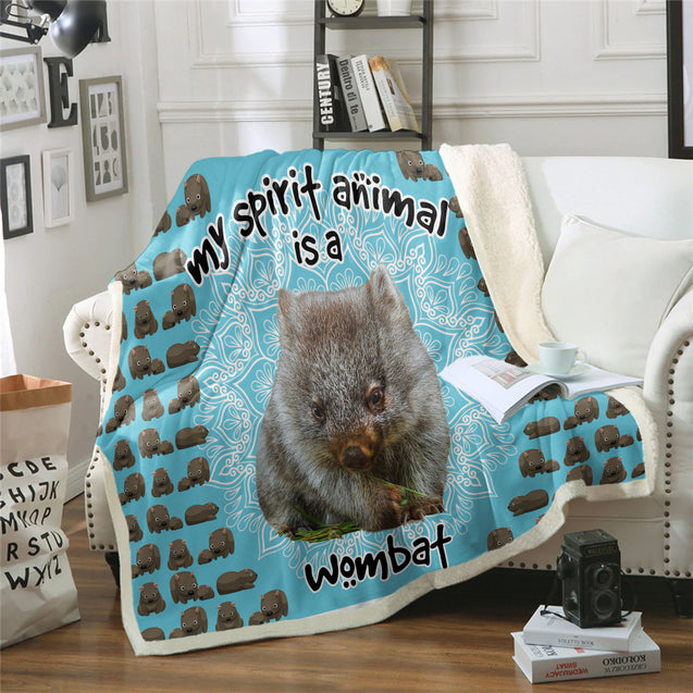 TD Wombat Is My Spirit Animal Blanket