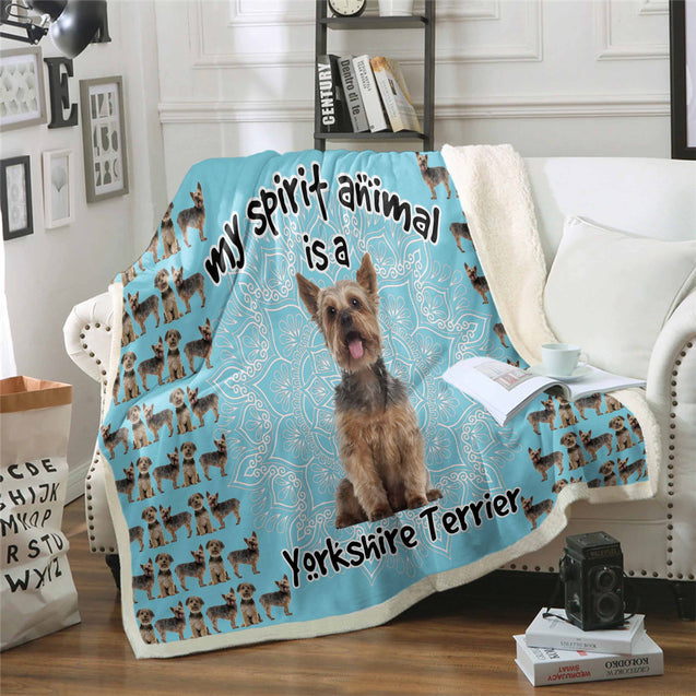 TD Yorkshire Terrier Is My Spirit Animal Blanket