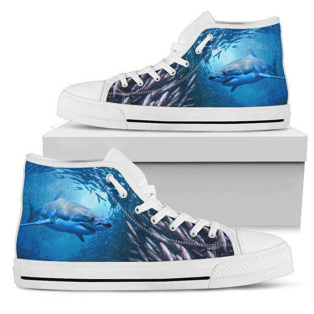 Ta Shark Ocean Men High Top Shoe