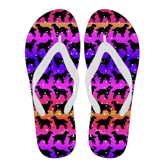 ln english springer spaniel color flip flops