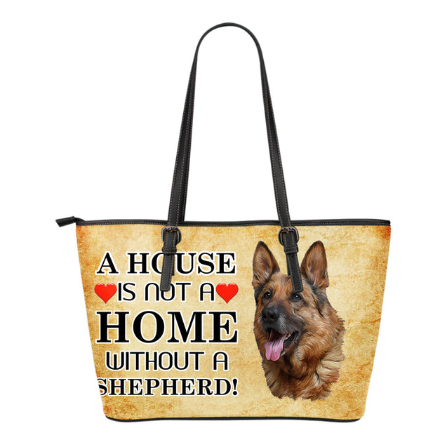 nh german shepherd home small leather tote bag