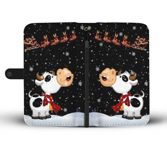 Ln 1 Cow Snow sky wallet case