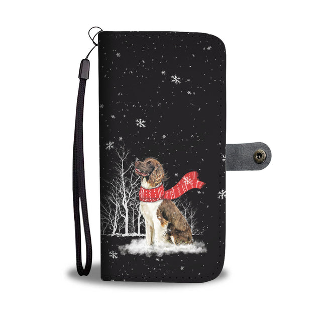 TR English Spaniel Enjoys The Snow Wallet Case