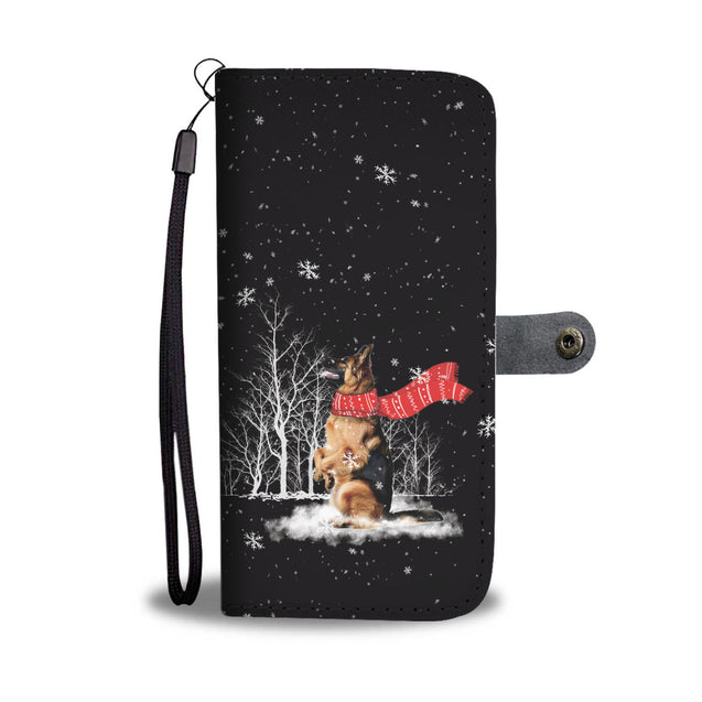 TR German Shepherd Enjoys The Snow Wallet Case