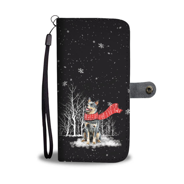 TR Heeler Enjoys The Snow Wallet Case