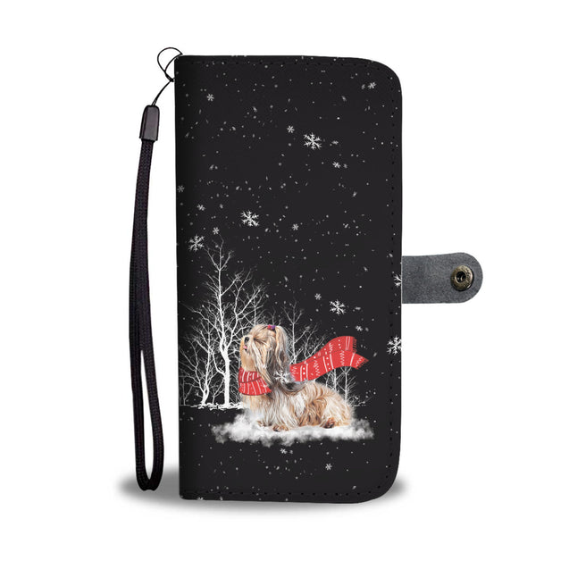 TR Shih Tzu Enjoys The Snow Wallet Case