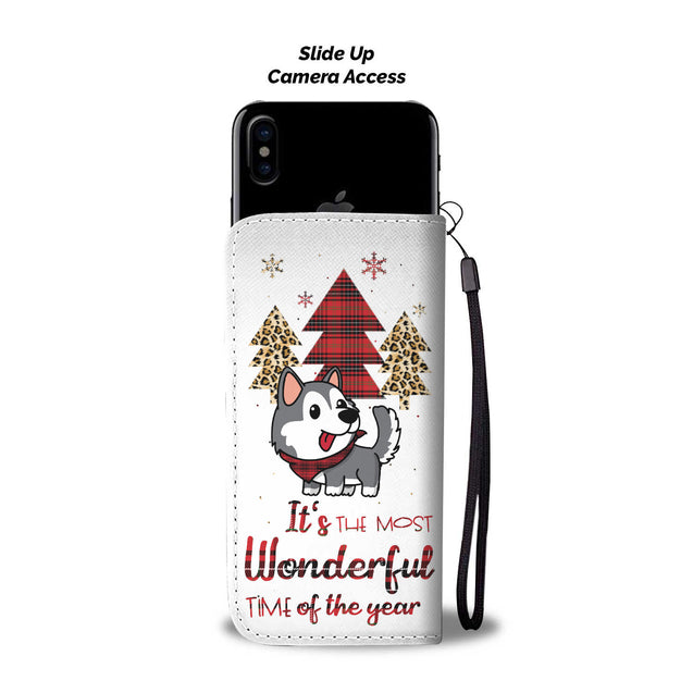 TR Siberian Husky The Most Wonderful Time Wallet Case