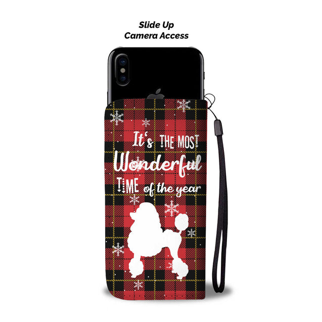 TR Poodle The Most Wonderful Time Wallet Case