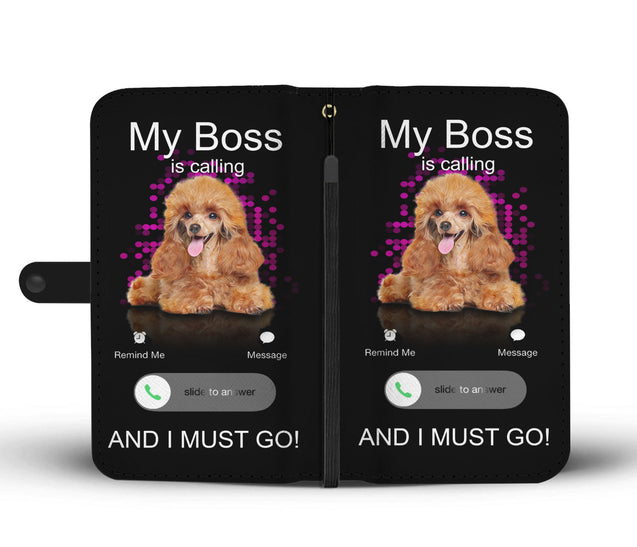 TR My Poodle Is Calling Wallet Case