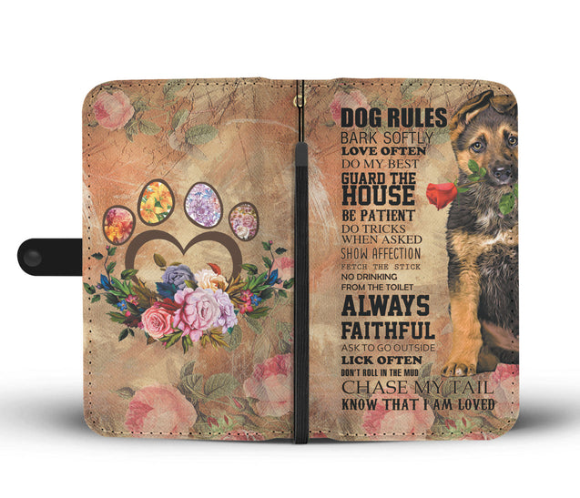 TR My Faithful German Shepherd Dog Wallet Case