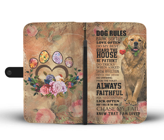 TR My Faithful Golden Retriever Dog Wallet Case