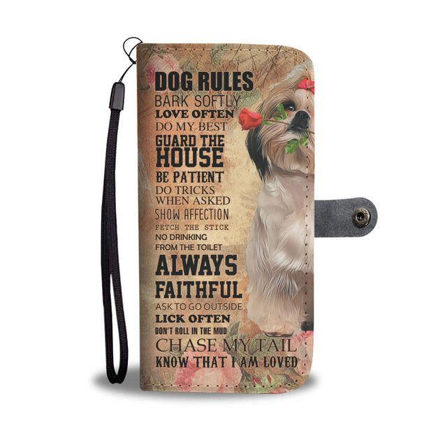 TR My Faithful ShihTzu Dog Wallet Case