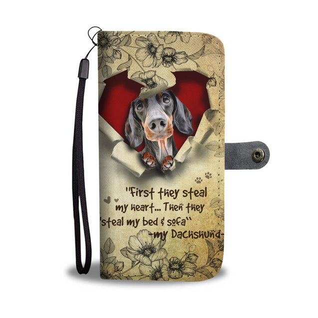 Nh 2 Dachshund Torn Wallet Case